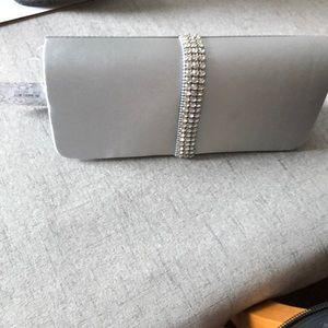 Lulu Townsend Silver Clutch/Shoulder Bag